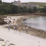 un petit tour sur la plage de Kersaint